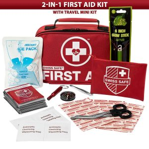 Swiss Safe 2-in-1 First Aid Kit (120 Piece